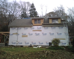 Roof shingles are on…screen porch in progress!
